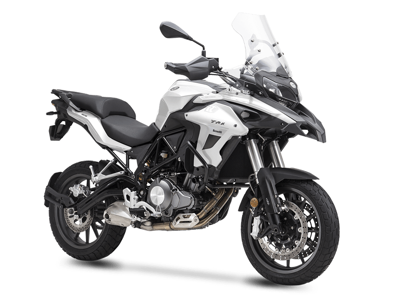 White & black Benelli trk 502 - Rent a motorcycle Athens