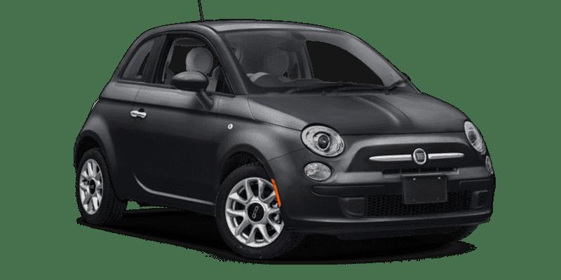Black fiat 500 rent a car Athens Greece