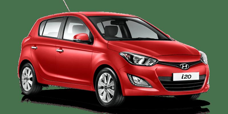 Red hyundai i20 rent a car Athens Greece