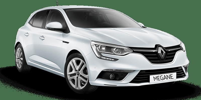 White Renault Megane rent a car Athens Greece