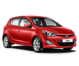 Rent a red hyundai, from icarus car rentals