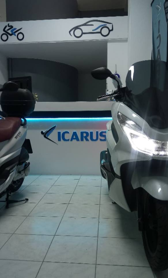 scooter in icarus rentals