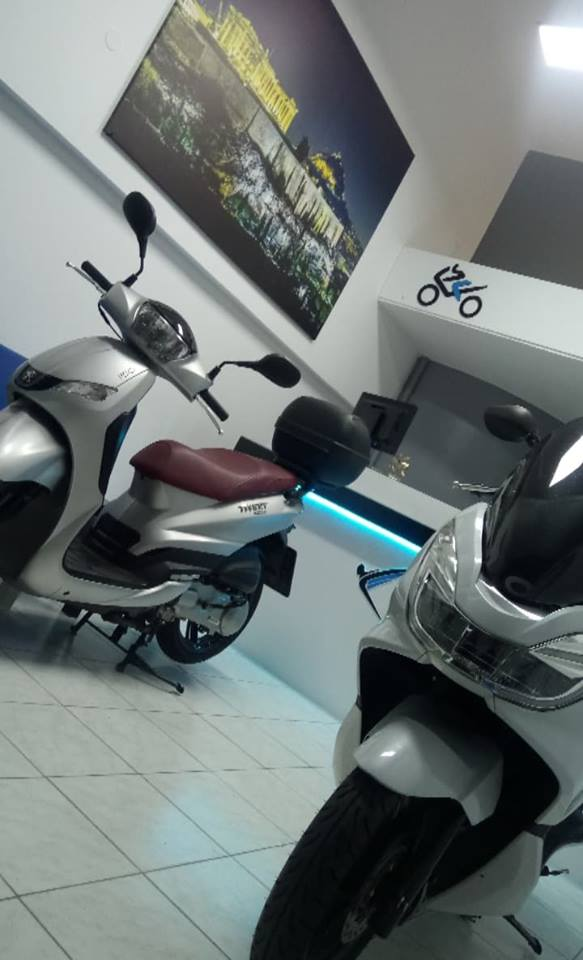 two scooters, in icarus rentals
