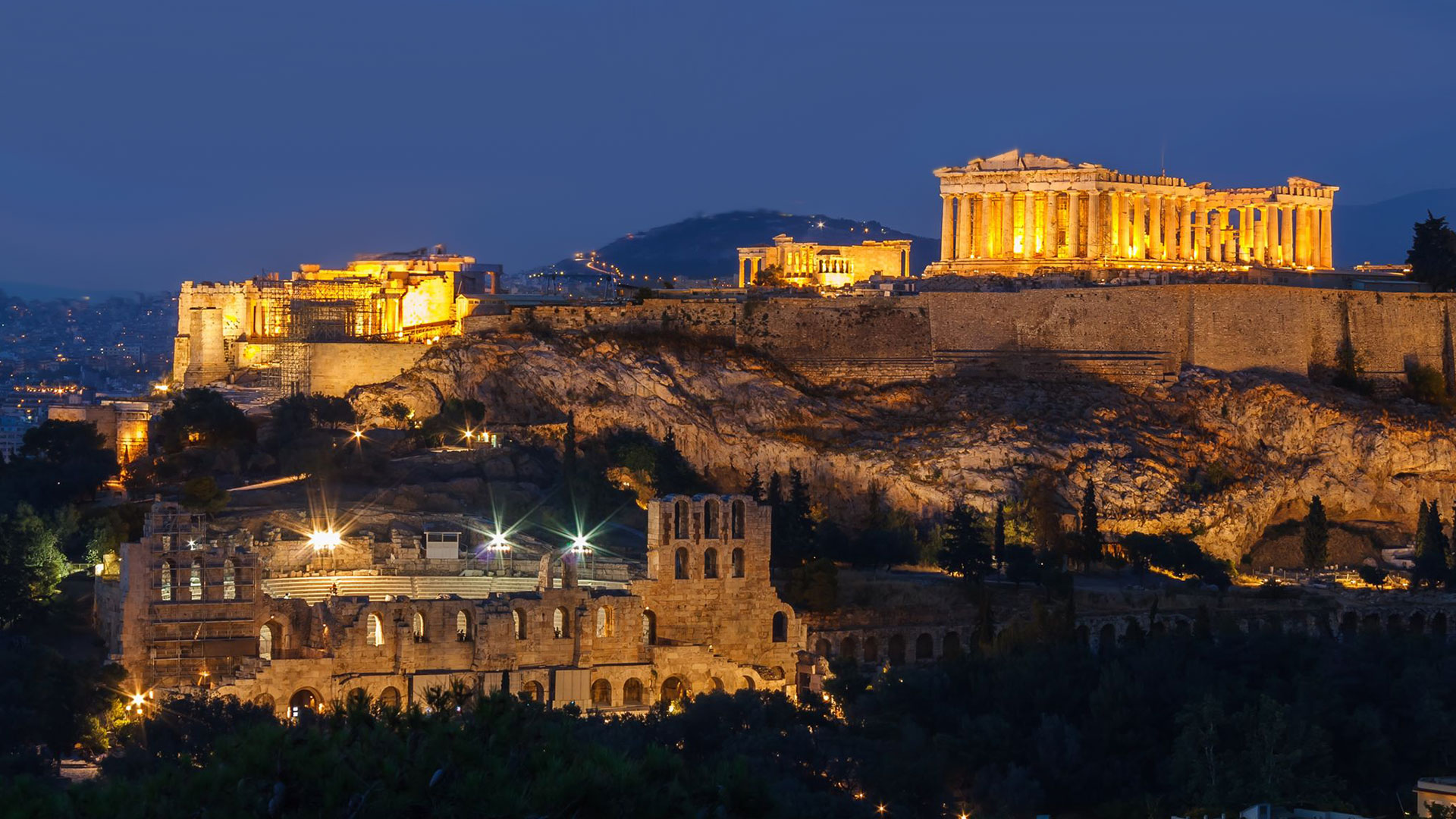 Acropolis and scooter rental Athens Greece